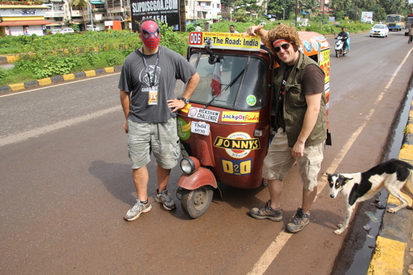Ric and Keith and their auto rickshaw